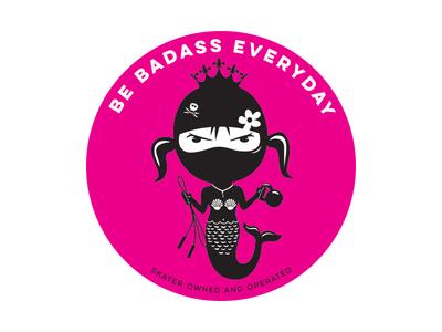 Be Badass Everyday Mermaid strong is beautiful strong women crossfit kettle bell jump rope badass mermaid