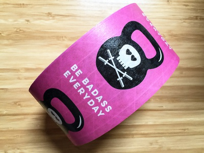 Strong ass tape Be Badass Everyday crossfit dumb bell barbells skulls sticker mule badass
