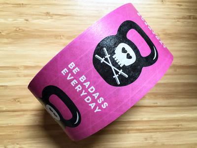Strong ass tape Be Badass Everyday crossfit dumb bell barbells skulls sticker mule badass