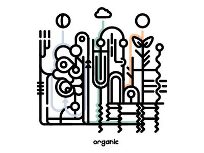 Organic minimal art illustration design