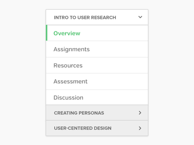 Expandable Menu ui design menu navigation