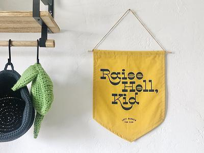 Nursery Pennant typography visual design design