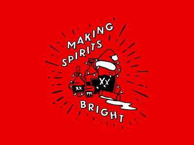 Making Spirits Bright christmas xmas illustration