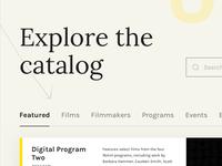 Film & Media Catalog Website