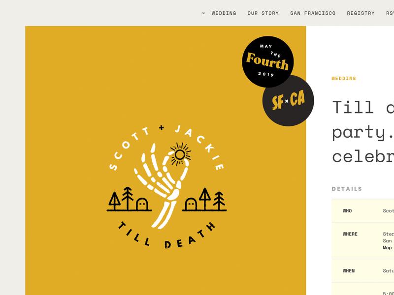 Till Death wedding logo design branding illustration visual design website