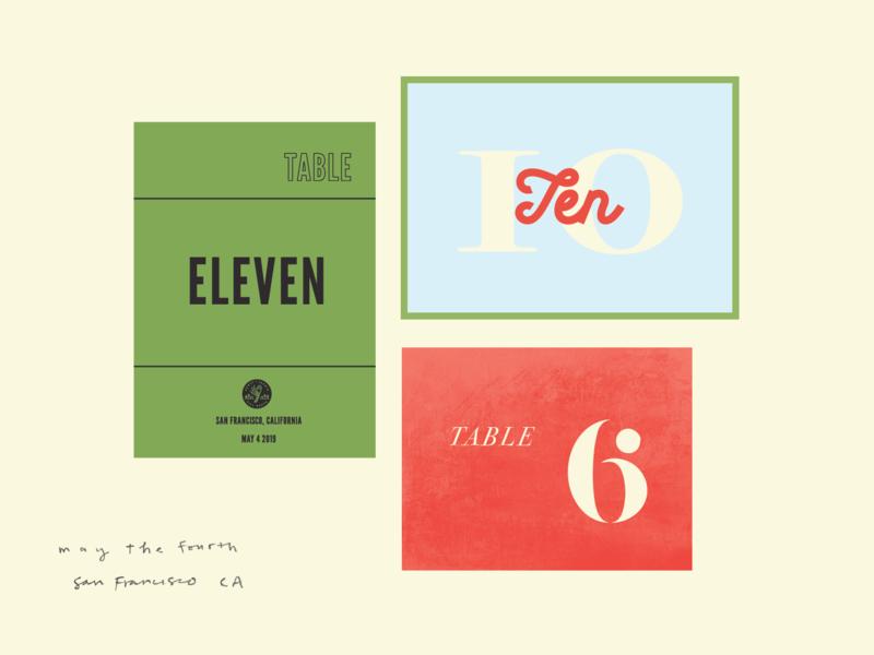 Table Numbers visual design design typography illustration branding