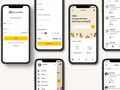 Kitchen Mile - Kitchen Owner view food app design