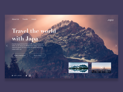 Japa branding design web ui