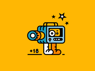 Kamerka vhs camera vector head modern illustration mark icon inkscape branding logo