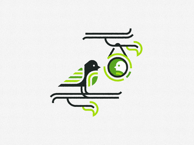 Spring Bird forest icon tweet spring bird logo modern animal illustration inkscape branding logo
