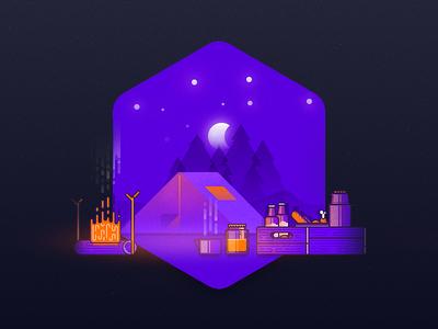 Camp gimp inkscape jam illustration camping box thermos tea icon