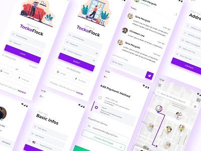 TockoFlock user experience design user interface design find worker app find worker app marketplace marketplace app clean design mobile app mobile app design ux desgin ui design