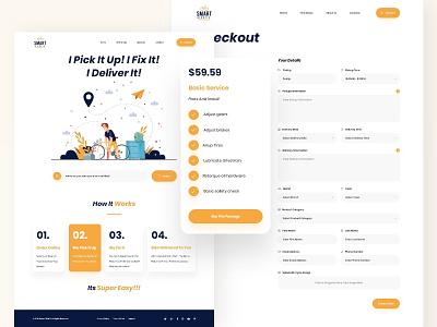 Smart Bike bike shop website design bike store vector web design clean design user interface user experience ux ui