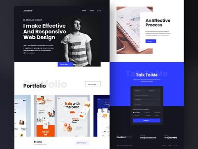 Jur Dekker - Portfolio Website website design portfolio website dark blue clean design web design user interface user experience ux ui