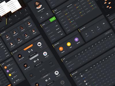 Online NBA Tournament - Dashboard sport dashboard sports nba dashboard admin panel dark web design user interface user experience ux ui