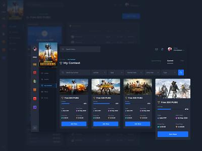 Esport Dashboard online gaming esport esports admin panel dashboard dark web design user interface ux user experience ui