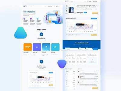 PRICEO.io website ui ux design ui design website design gradient clean design web design user interface user experience ux ui