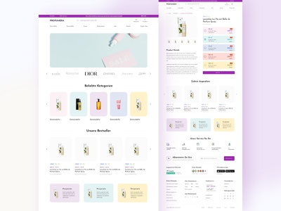 Profumera ecommerce online shop online store website ui website design web design clean design user interface user experience ux ui