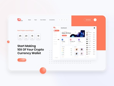 10X.gg - Landing Page crypto wallet crypto website design admin panel dashboard gradient clean design web design user interface user experience ux ui
