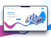 Mino minimal design crypto currency illustration blue vector clean design gradient web design user experience user interface ux ui