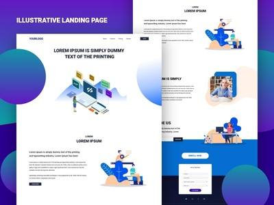 Illustrative Landing Page