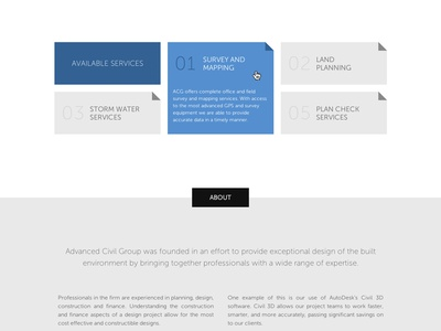 All Business single page simple minimal flat museo sans engineering landing page
