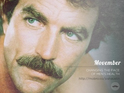 Movember selleck mustache