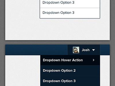 Dropin down low profile drop down nav dropdown