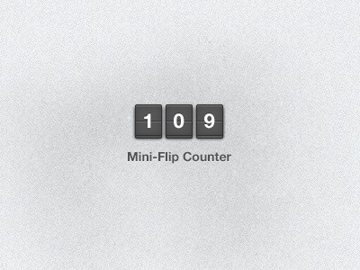 Mini-Flip flip clock counter freebie