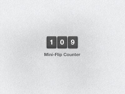 Mini-Flip flip clock counter freebie