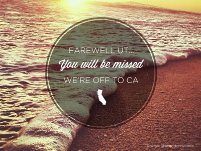 Farewell SLC farewell beach happiness