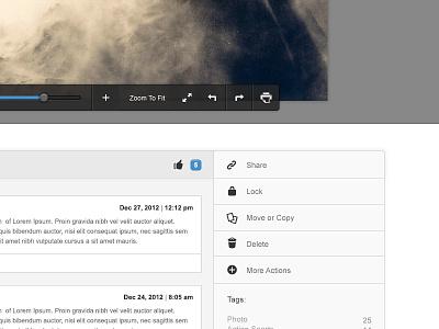 Preview ui comments menu