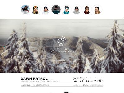 Oakley Minisite  oakley parallax minisite snow ski snowboard ecomm