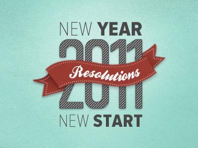 Twenty 11 new year 2011 resolution ribbon