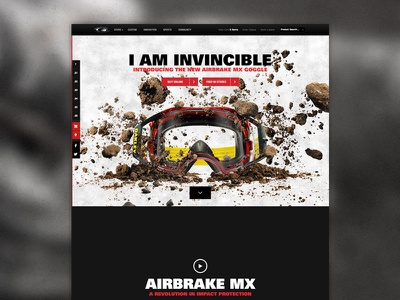 Oakley Minisite - Airbrake MX minisite parallax flat black red oakley action sports skrollr