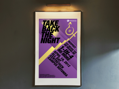 Take Back the Night poster illustration typography poster