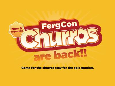 Churros vector design typography
