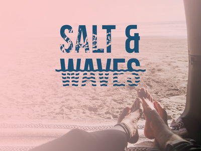 Salt & Waves logo vector illustration design logo