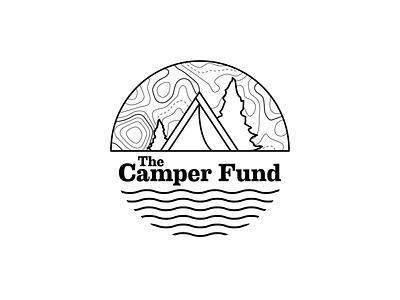 The Camper Fund Logo illustration design illustrator branding logo vector