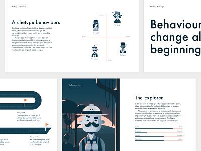 Service design deck template illustration character design service design servicedesign behaviour personas persona archetypes archetype user journey user template powerpoint keynote deck slides