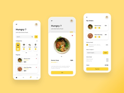 Food Order - Mobile App food mobile app design mobile app android ios food app application app design ui app