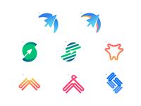 Swwwift Branding Concepts cursor quick swift bird gradients websites branding concept branding logo illustration icon design