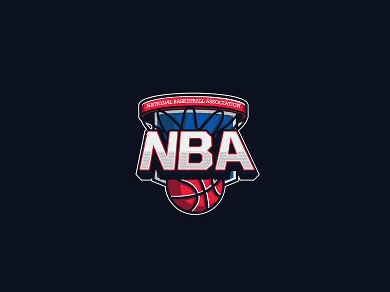 NBA Logo by Caiuan Santos | Dribbble | Dribbble