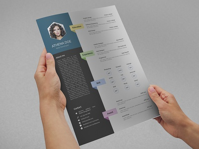 Resume with MS Word resume cv print template stationary design photoshop psd ms word doc docx