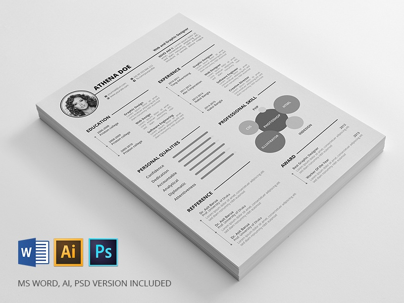 resume freebie by mahmud saeef dribbble
