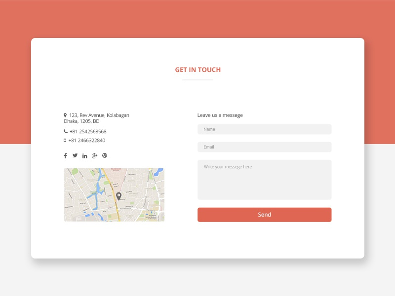 DailyUI #028 - Contact Us user experience user interface contact page 028 daily ui dailyui 028 web element ux ui contact us dailyui