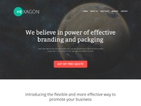 Hexagon landing page