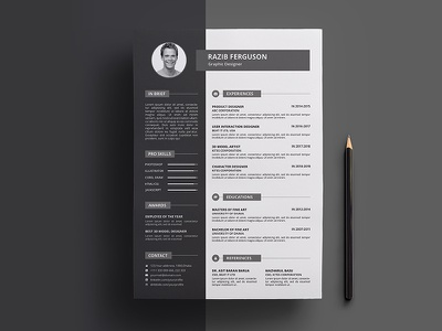 Resume Design cv resume resume design job resume resume cv msword cv curriculum vitae stationary print template job profile job application print design