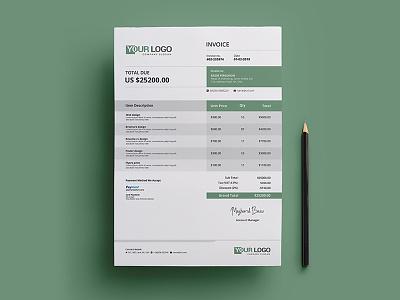 Invoice Template bill design clean invoice corporate invoice invoice invoices invoice design invoice template payment professional invoice psd invoice stationary template word invoice