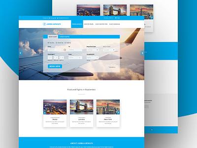 Flight Booking Landing Page branding airways booking system booking.com booking illustration design user interface typography ux ui web element user experience